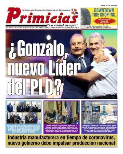 Portada Periódico Primicias, Lunes 13 de Julio, 2020