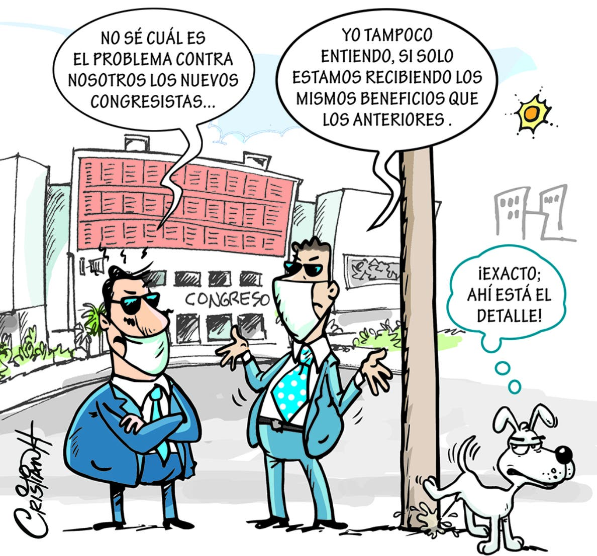 Caricatura Cristian Caricaturas – El Día, 27 de Octubre, 2020
