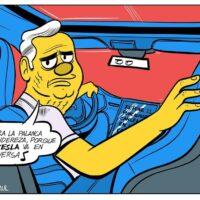Caricatura Jarúl – 25 de Octubre, 2020 – El Tesla va en reversa