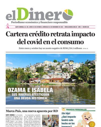 Portada Periódico El Dinero, Jueves 29 de Octubre, 2020