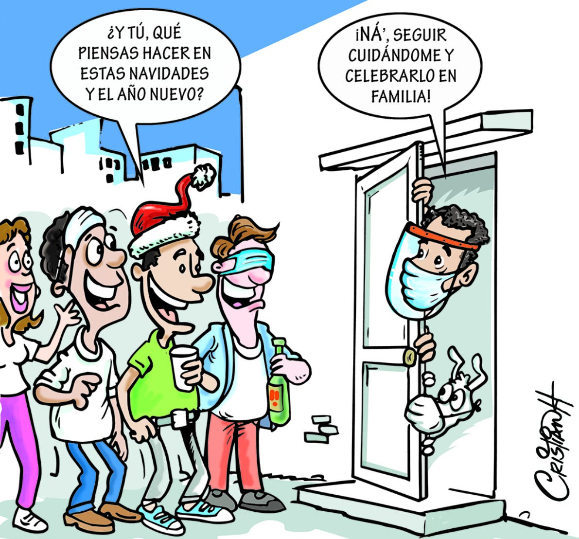 Caricatura Cristian Caricaturas – El Día, 21 de Diciembre, 2020