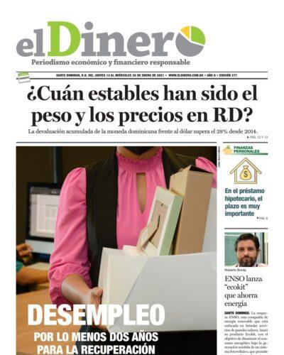 Portada Periódico El Dinero, Jueves 14 de Enero, 2021