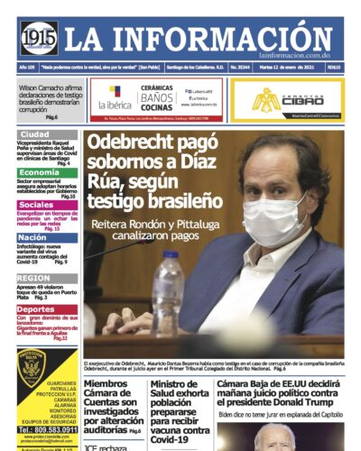 Portada Periódico La Información, Martes 12 de Enero, 2021