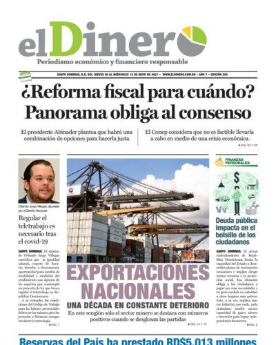 Portada Periódico El Dinero, Jueves 06 de Mayo, 2021