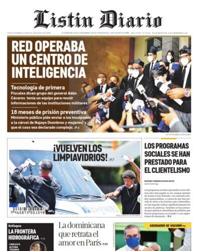Portada Periódico Listín Diario, Jueves 06 de Mayo, 2021